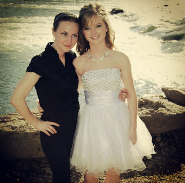 Lana and I - her first prom