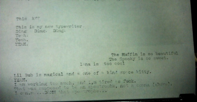 Experimenting with the Typewriter